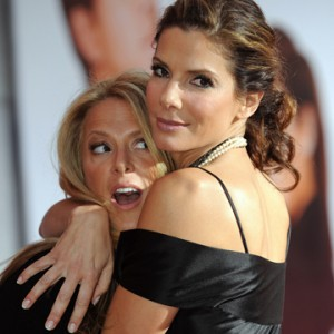 """Bullock and Fletcher at the premiere of """"The Proposal."""""""