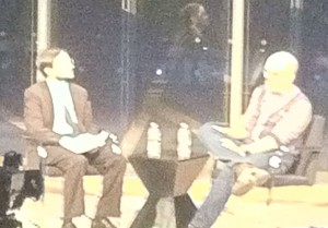 David Cross and Dave Itzkoff at the New York Times Arts and Leisure Weekend