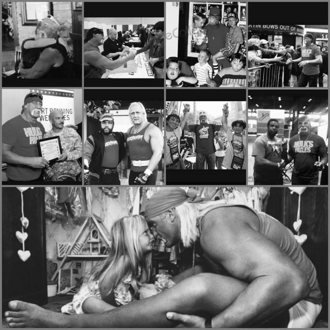 brooke hogan's photo collage of hulk hogan