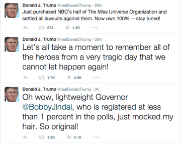 trump tweet trifecta