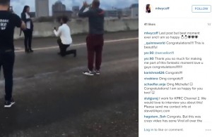 houston highway marriage proposal screengrab