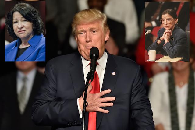 Trump, Sotomayor, Ginsburg