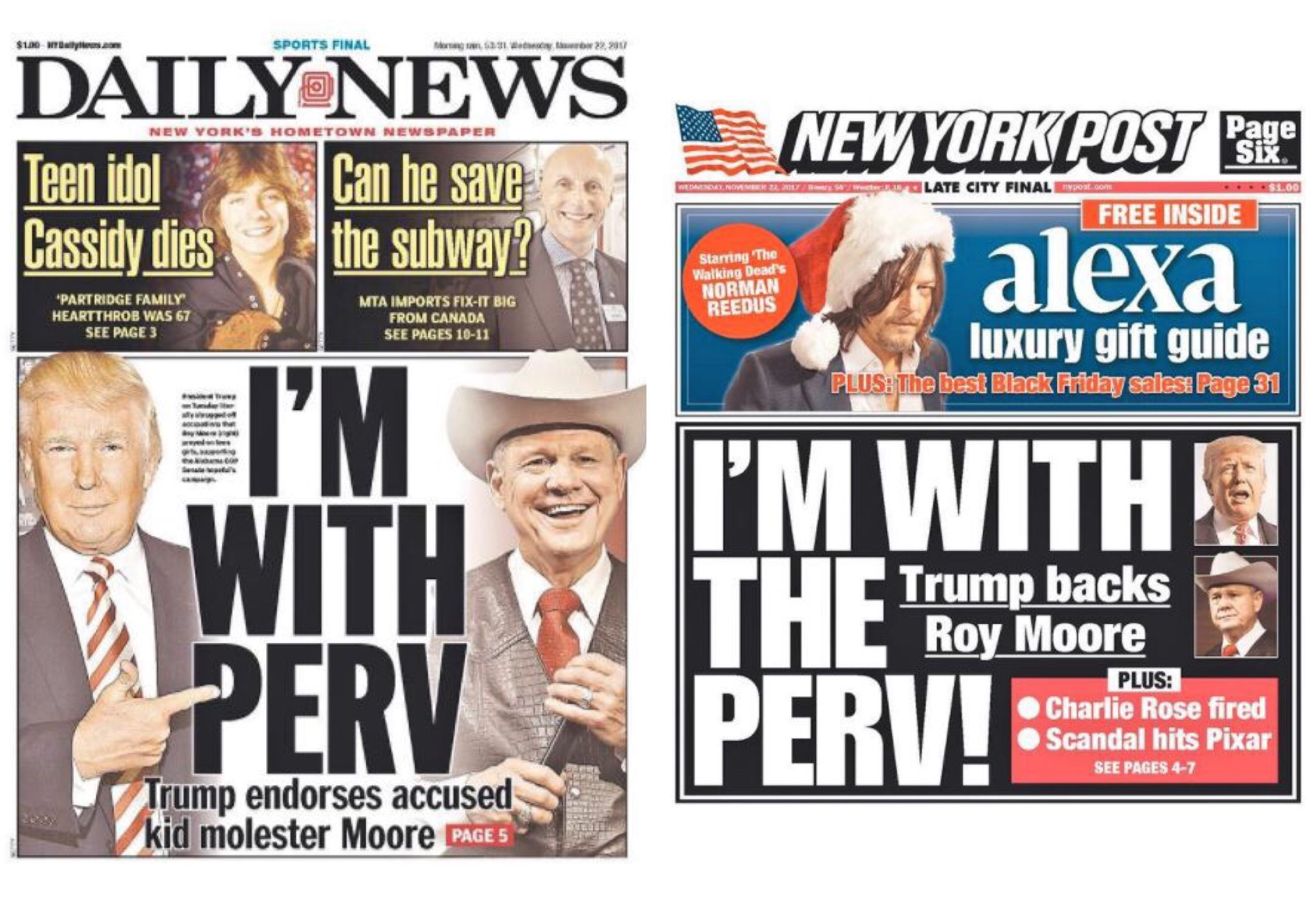 NY Post and NY Daily News Covers Match ...