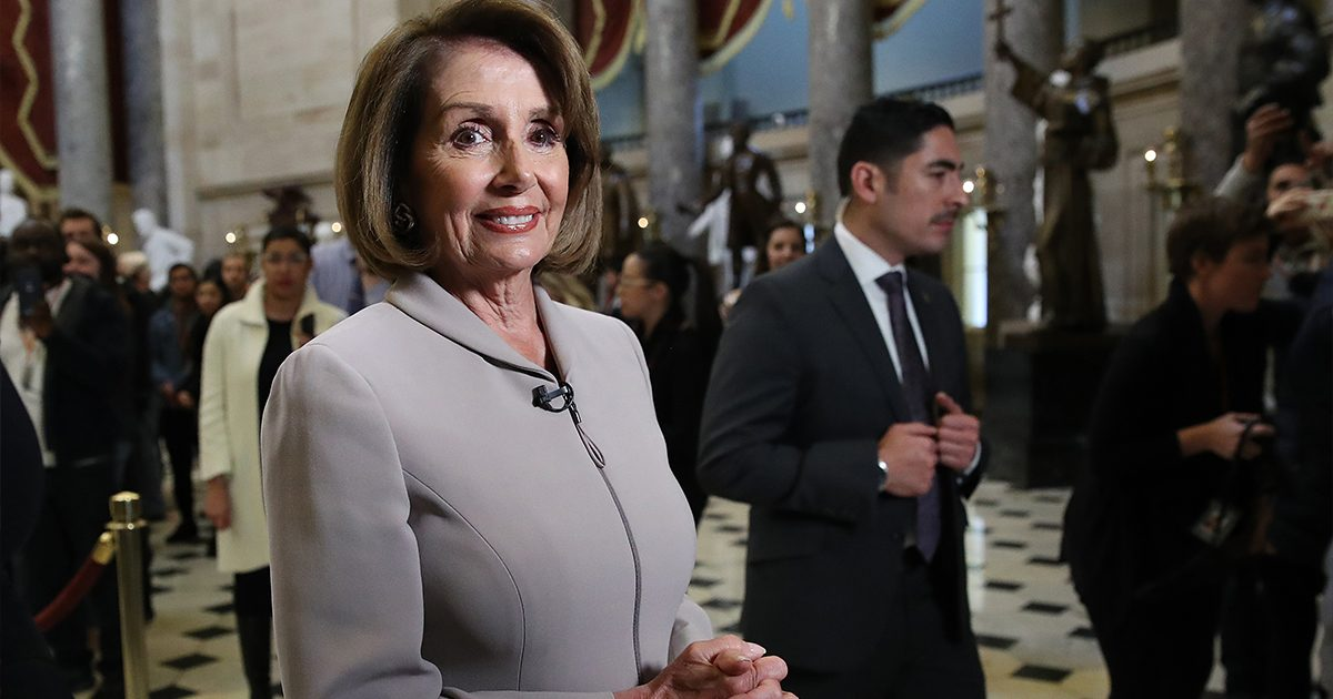 Nancy Pelosi, U.S. Capitol, January 2019, Photo by Win McNamee/Getty Images