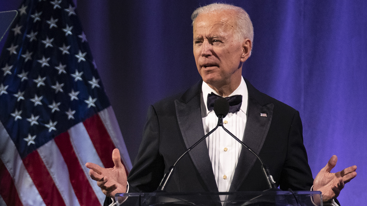Former U.S. Vice President Joe Biden delivers remarks on receiving the lifetime achievement award during the National Minority Quality Forum on April 9, 2019 in Washington, DC.
