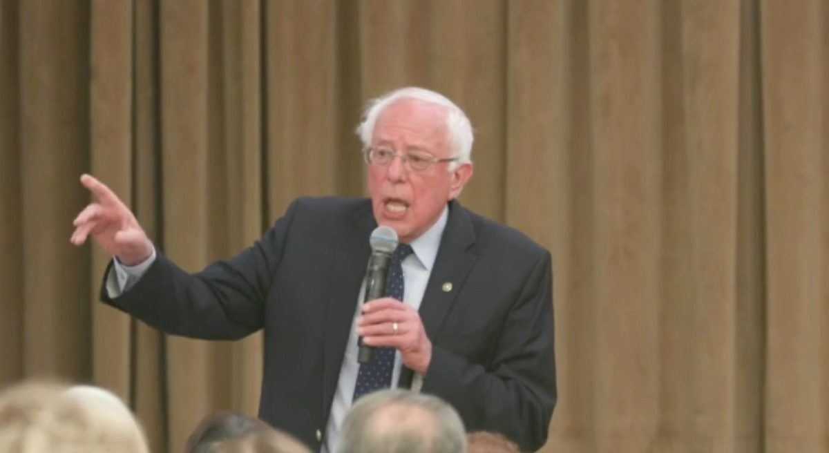Bernie Sanders Lashes Out Town Hall Lack of Support Hillary Clinton