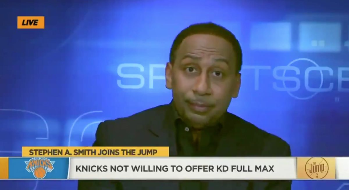Stephen A Smith Unhappy With Knicks