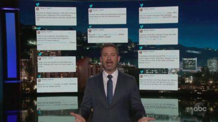 Jimmy Kimmel Mocks Hypocrisy of Trump's Boycott Outrage
