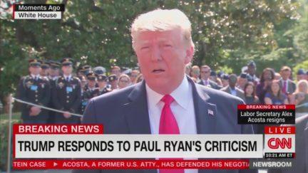 Trump Bashes Paul Ryan