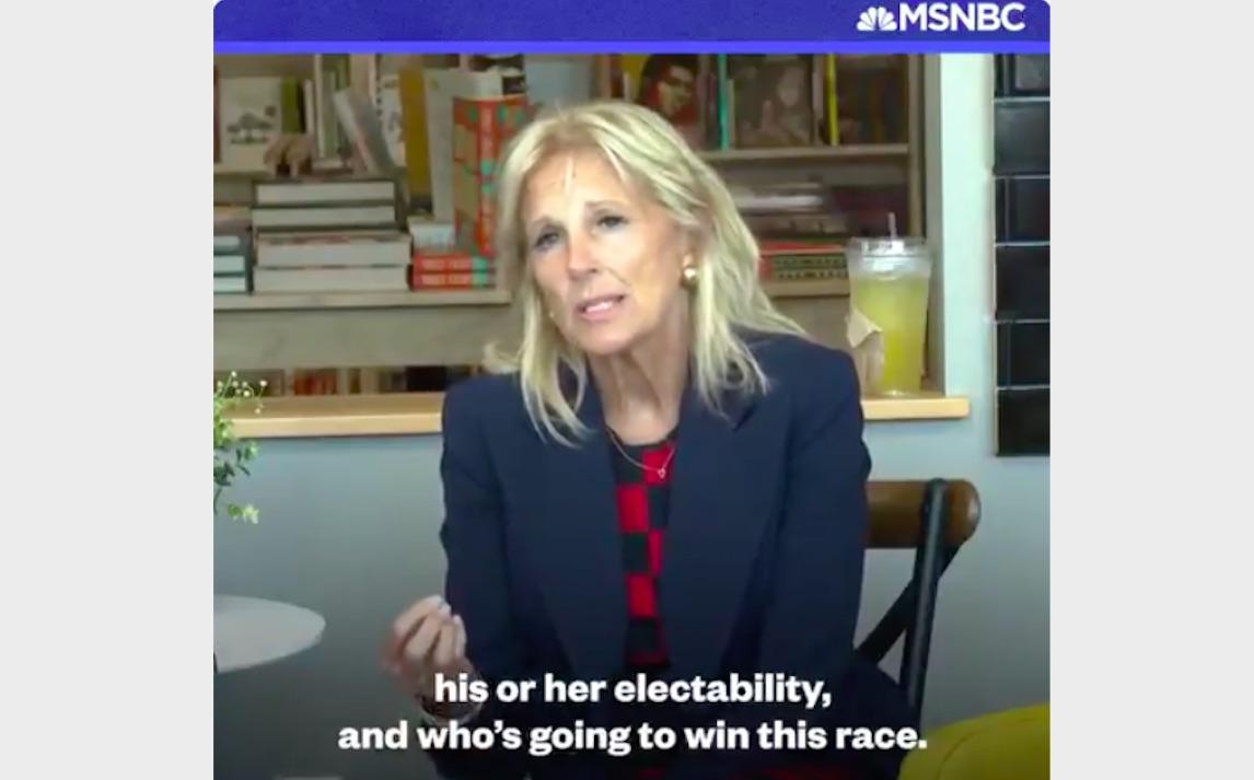 Jill Biden Makes Electability Argument for Joe