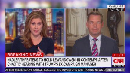Erin Burnett Confronts Eric Swalwell Over Chaotic Lewandowski Hearing
