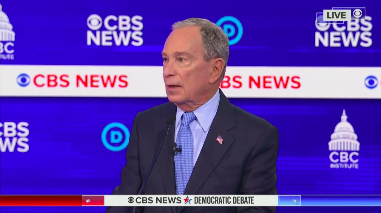 Mike Bloomberg's 'I Bought' Slip of the Tongue at SC Debate