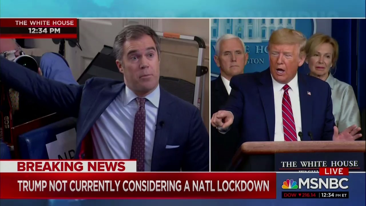 Trump Berates Peter Alexander