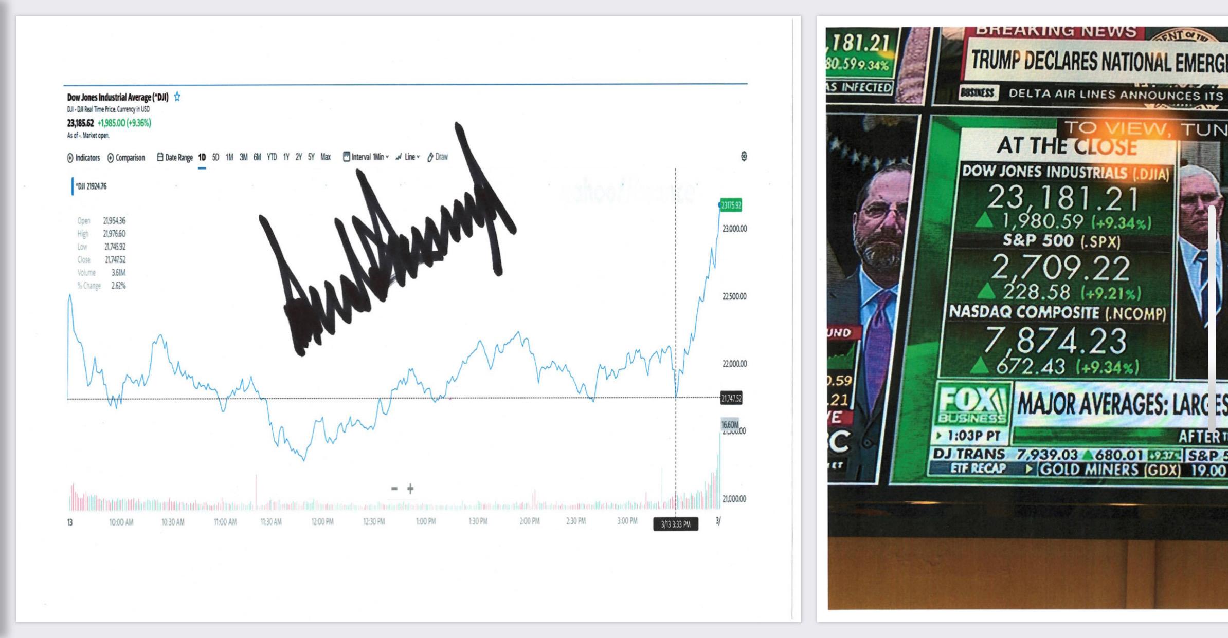 Trump Signs Stock Market Chart