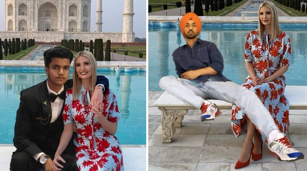 Ivanka Trump Shares Weird Doctored Photos With Indian Fans