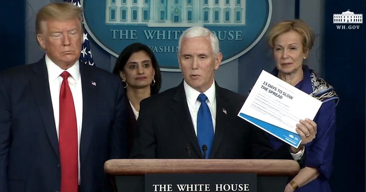 First Case Reported in White House, Mike Pence's Staffer Tests Positive