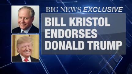 Bill Kristol fake endorsement of Trump on CBS animated series