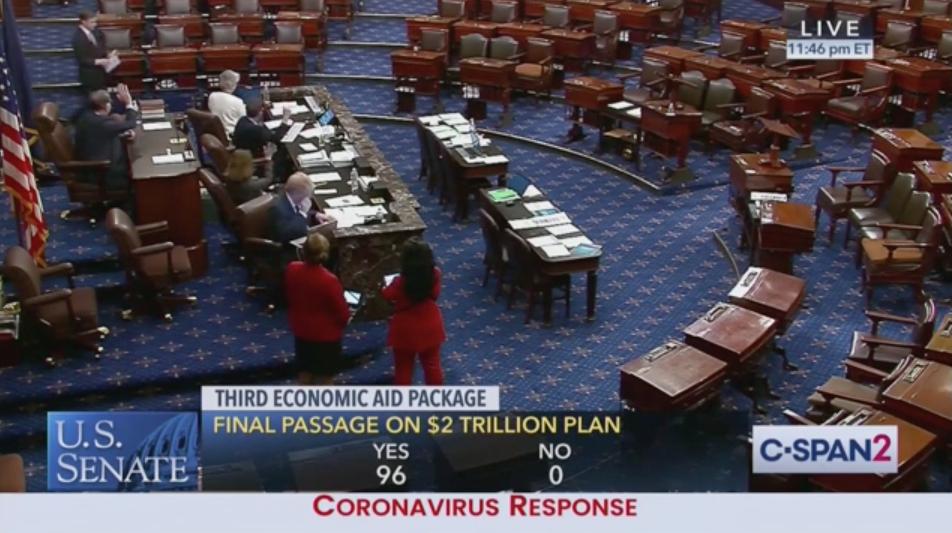Senate Unanimously Passes Coronavirus Stimulus Bill