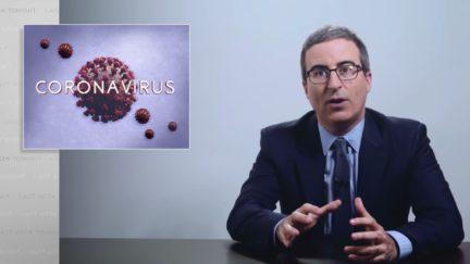 john oliver on coronavirus coverage