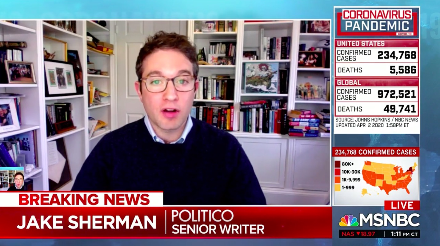 Jake Sherman Works From Home