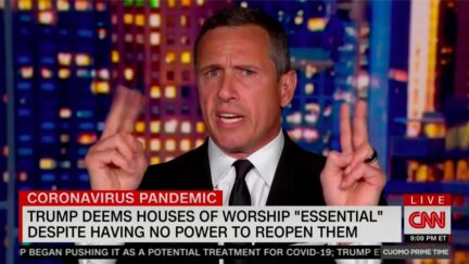 Chris Cuomo Fires Back at 'Demagogue' Trump for Reopening Churches Threat