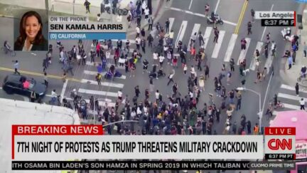 Kamala Harris Rails Against Trump's Militarized 'Law and Order' Crackdown Threat