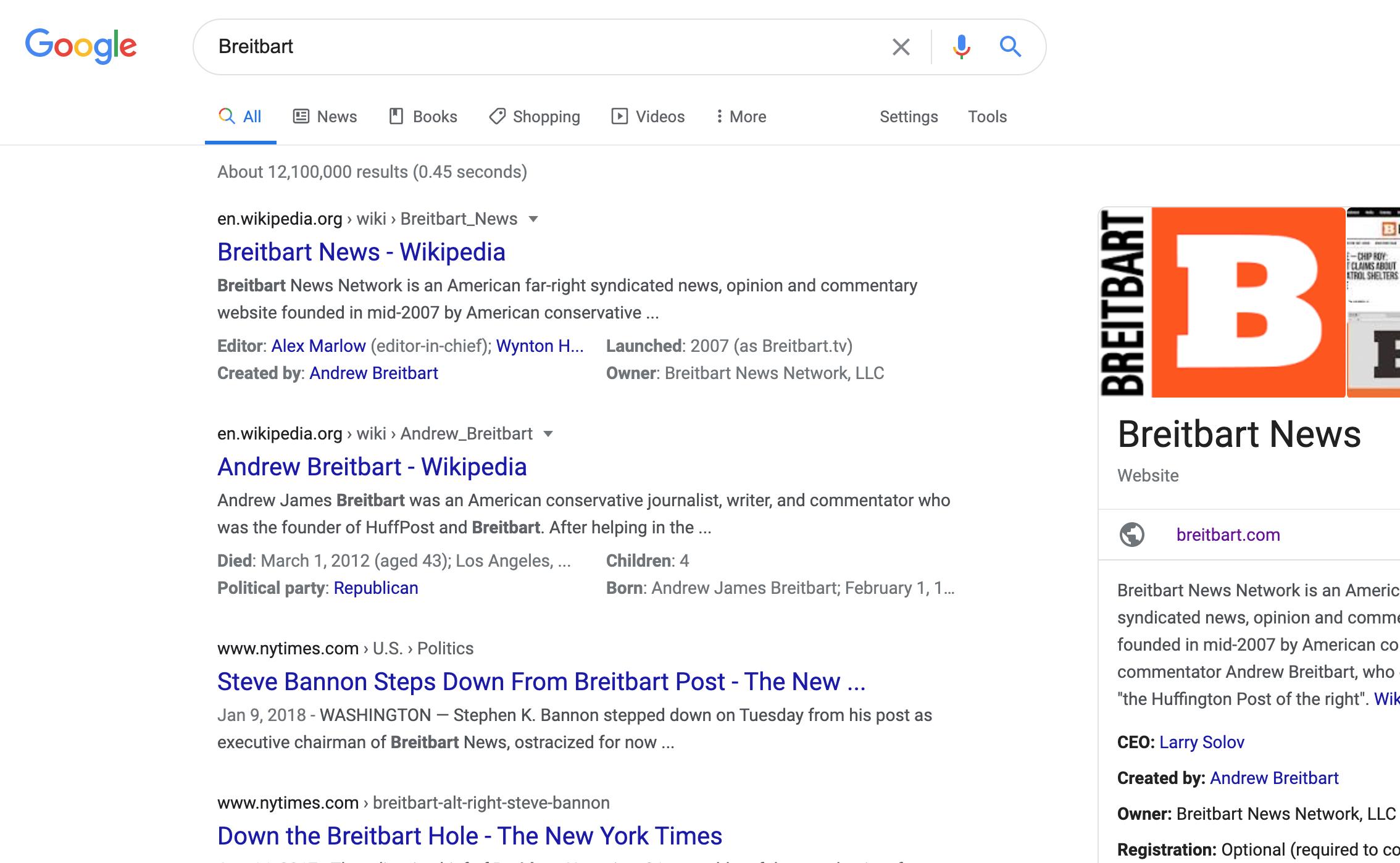 Breitbart Google