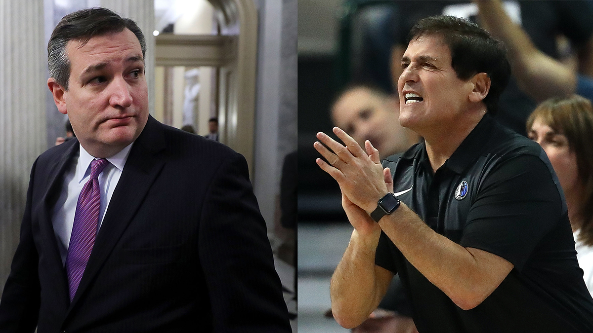 Ted Cruz, Mark Cuban Feud over Anthem Protests at NBA Games