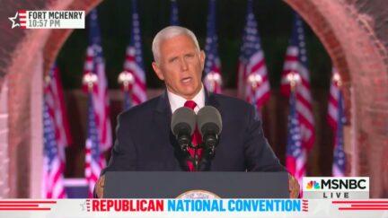 Mike Pence Addresses Unrest in Kenosha in RNC Speech