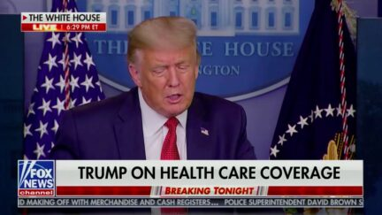 Trump Says EO on Pre-Existing Conditions Is 'Double Safety Net'