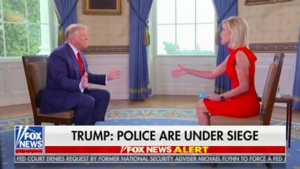 Watch Laura Ingraham Jump In as Trump Starts Comparing Police Who 'Choke' by Shooting Black Men to Missing a Short Golf Putt