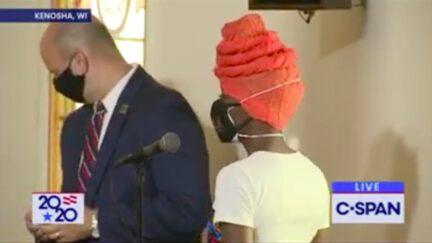 BLM Activist Unloads Anger During Biden Event