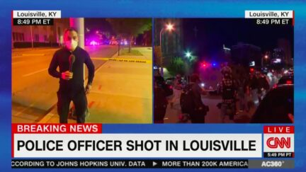 CNN Reports One Police Officer Shot in Louisville