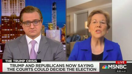 Elizabeth Warren Says Trump 'Flirting with Treason' Over Peaceful Transfer Election Comments