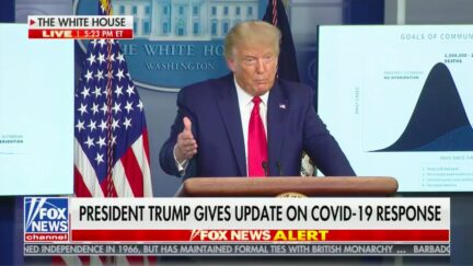 Trump Praises His Administration's Covid Response, Especially 'If You Take the Blue States Out'