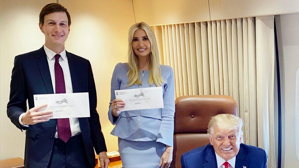 Blue-Check Twitter Trolls Ivanka Trump On Mail Ballot Photo