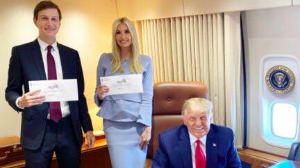 Ivanka Trump, Jared Kushner and Donald Trump