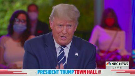 Trump Snaps at NBC's Savannah Guthrie Over White Supremacy, Won't Denounce QAnon