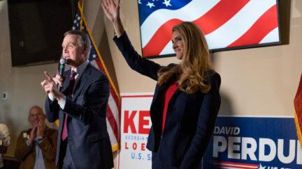 Kelly Loeffler David Perdue Megan Varner/Getty Images