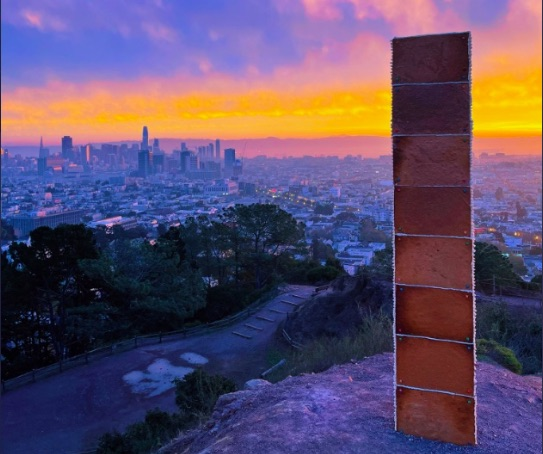 Gingerbread monolith appears in California