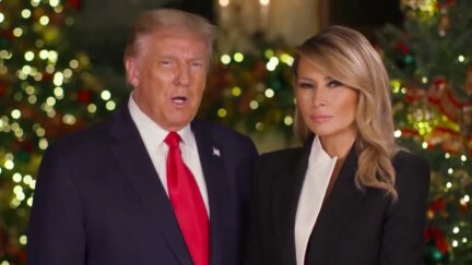 Trump and Melania Christmas Video