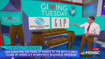 Steve Kornacki Gets The Gap to Donate Khakis for Giving Tuesday