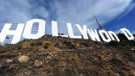 Freshly painted Hollywood Sign