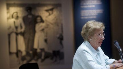 Eva Schloss, stepsister of Anne Frank