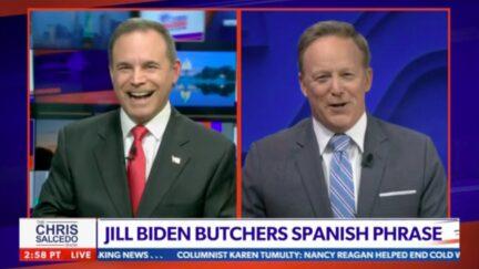Chris Salcedo Interviews Muted Sean Spicer