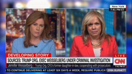 Erin Burnett and Jennifer Weisselberg on CNN.