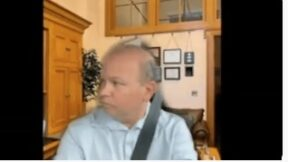 Andrew Brenner, a state senator in Ohio, on Zoom Call while driving