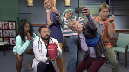 Elon Musk in SNL gen z hospital sketch