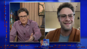 seth rogen on stephen colbert