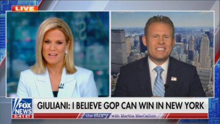 Martha MacCallum and Andrew Giuliani on Fox News